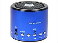 Портативная акустическая система WS-A8 с радио и mp3 Синий
