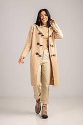 Стильный кардиган с карманами и капюшоном длиною за колено в 4 цветах в размере S/Mи  L/LX