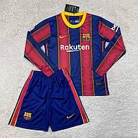 Футбольная форма Барселона с длинным рукавом 20/21 дом