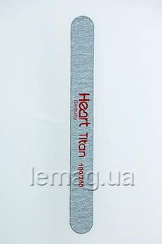 HEART Пилка для ногтей Line TITAN 180/240, 1 шт.