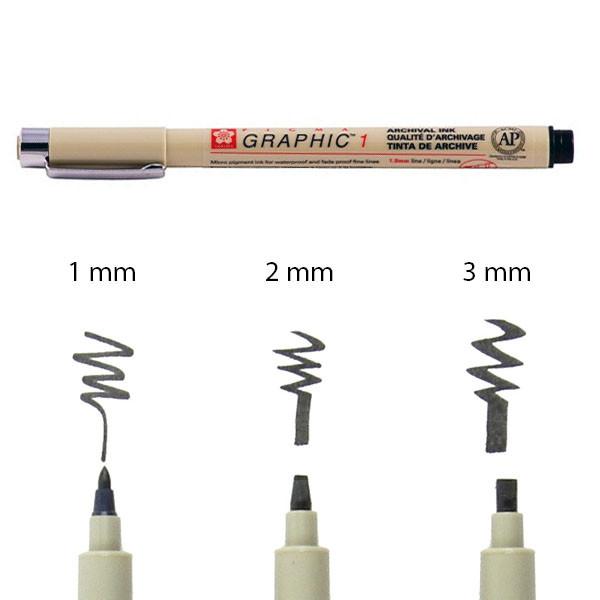 Линер-маркер PIGMA GRAPHIC 1мм, Черный, Sakura