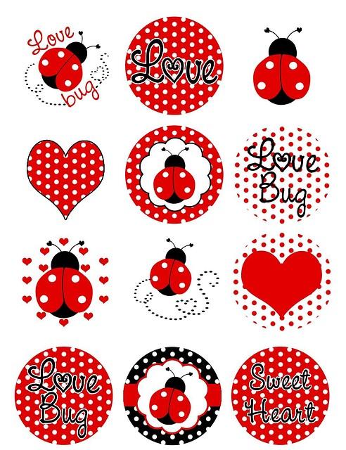 """Картинки для кап-кейков """"Божья коровка"""" А4 Галетте -01262"""