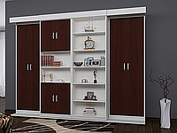 Двухспальная шкаф-кровать в стенке, фото 1