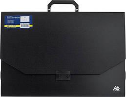 Портфель BUROMAX А3 1 отделение пластик замок черный (BM.3725-01)