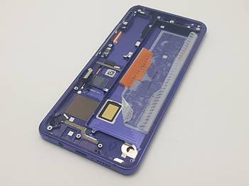 Дисплей Xiaomi Mi Note 10 lite модуль синий Сервисный оригинал с разборки