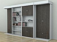 Двухспальная шкаф-кровать, встроенная в стенку