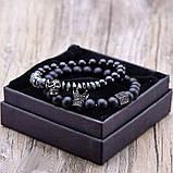 Чоловічий кам'яний браслет mod.Commander комплект браслетів, фото 6