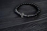 Мужской каменный браслет Череп из копмлекта УЦЕНКА!, фото 1