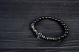 Чоловічий кам'яний браслет mod.Commander комплект браслетів, фото 2