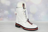 Белые зимние женские ботинки Verendina