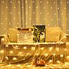 Светодиодная новогодняя гирлянда сетка 3х3м, 480LED белый теплый