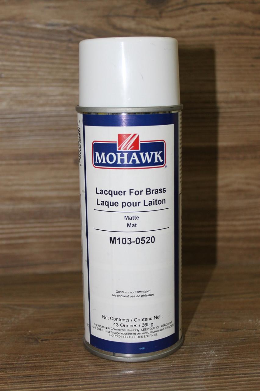 Лак для латуни и металла, матовый, Laquer for Brass Aerosoz, 365 грамм, Mohawk