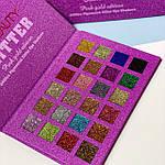 Палетка глиттеров Summer Pink gold edition,24 оттенка, фото 2