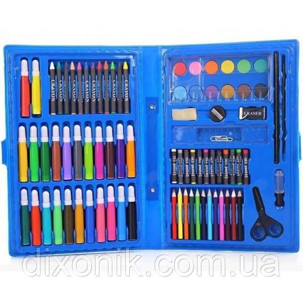 Набор для детского творчества и рисования Painting Set 86 предметов в чемоданчике Разные цвета