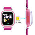 Smart часы детские с GPS Q90, Pink, фото 2