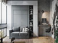 Односпальная шкаф-кровать с пеналом и антресолью, фото 1