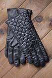 Жіночі шкіряні рукавички сенсорні, фото 2