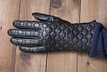 Жіночі шкіряні рукавички сенсорні, фото 3