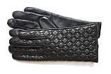 Жіночі шкіряні рукавички сенсорні, фото 8