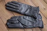 Жіночі шкіряні рукавички сенсорні, фото 4