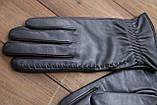 Жіночі шкіряні рукавички сенсорні, фото 6