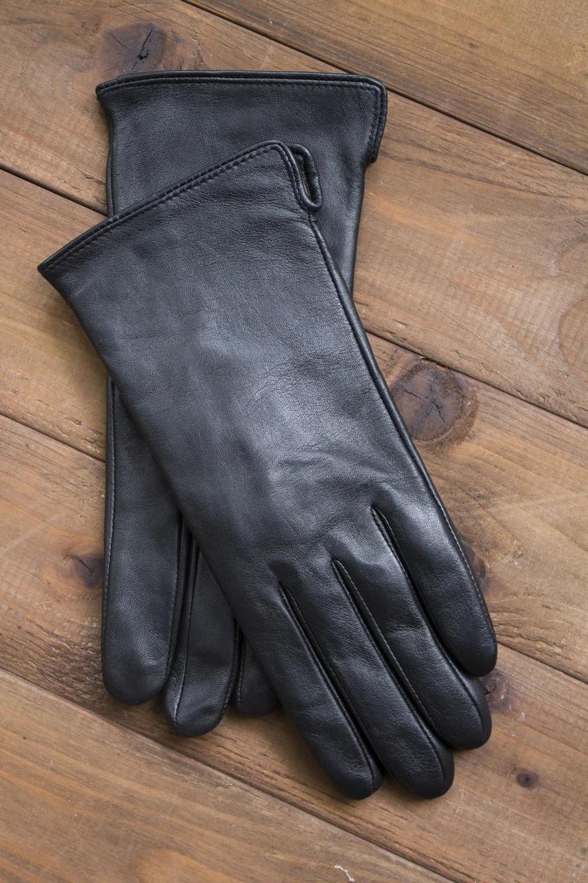 Жіночі шкіряні рукавички сенсорні