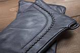 Женские кожаные перчатки сенсорные, фото 3
