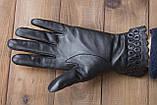 Женские кожаные перчатки сенсорные, фото 5