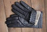 Женские кожаные перчатки сенсорные, фото 6