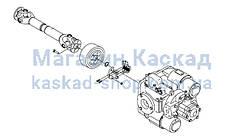 Система передачі крутного моменту від коробки відбору потужності до гідронасоси автобетонозмішувача.
