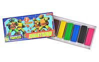 Пластилин 7 цв. ''Ninja Turtles''