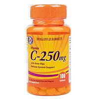 Биологически активная добавка для иммунитета Holland & Barrett Vitamin C 250 mg with Rose Hips, 100 шт.