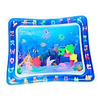 """Водный коврик для детей """"прямоугольный с русалками"""" развивающий коврик для младенца   ігровий аквакилимок"""