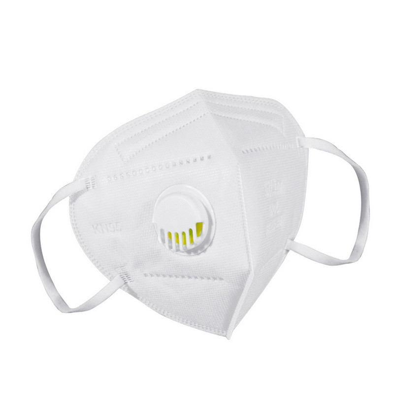 100шт! Респиратор FFP2 KN95 маска защитная с клапаном многоразовая Белая опт