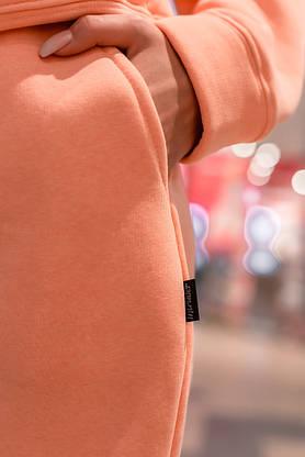 Штаны женские джогеры теплые на флисе зимние спортивные Basic Intruder розовые Oversize осенние весенние, фото 2