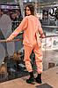 Штаны женские джогеры теплые на флисе зимние спортивные Basic Intruder розовые Oversize осенние весенние, фото 5