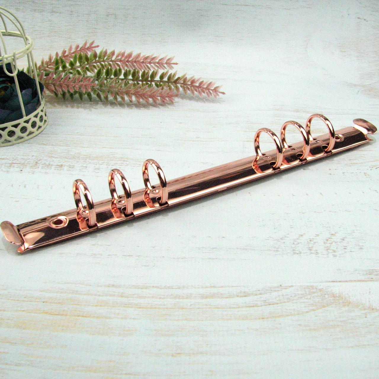 Кольцевые механизмы ,розовое золото  А5 на 6 колец 216/20мм  без крепления