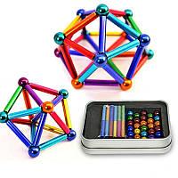 """Неокуб магнитные шарики """"Neo Mix Color"""" (36 цветных палочек, 27 цветных шариков) магнитный конструктор"""