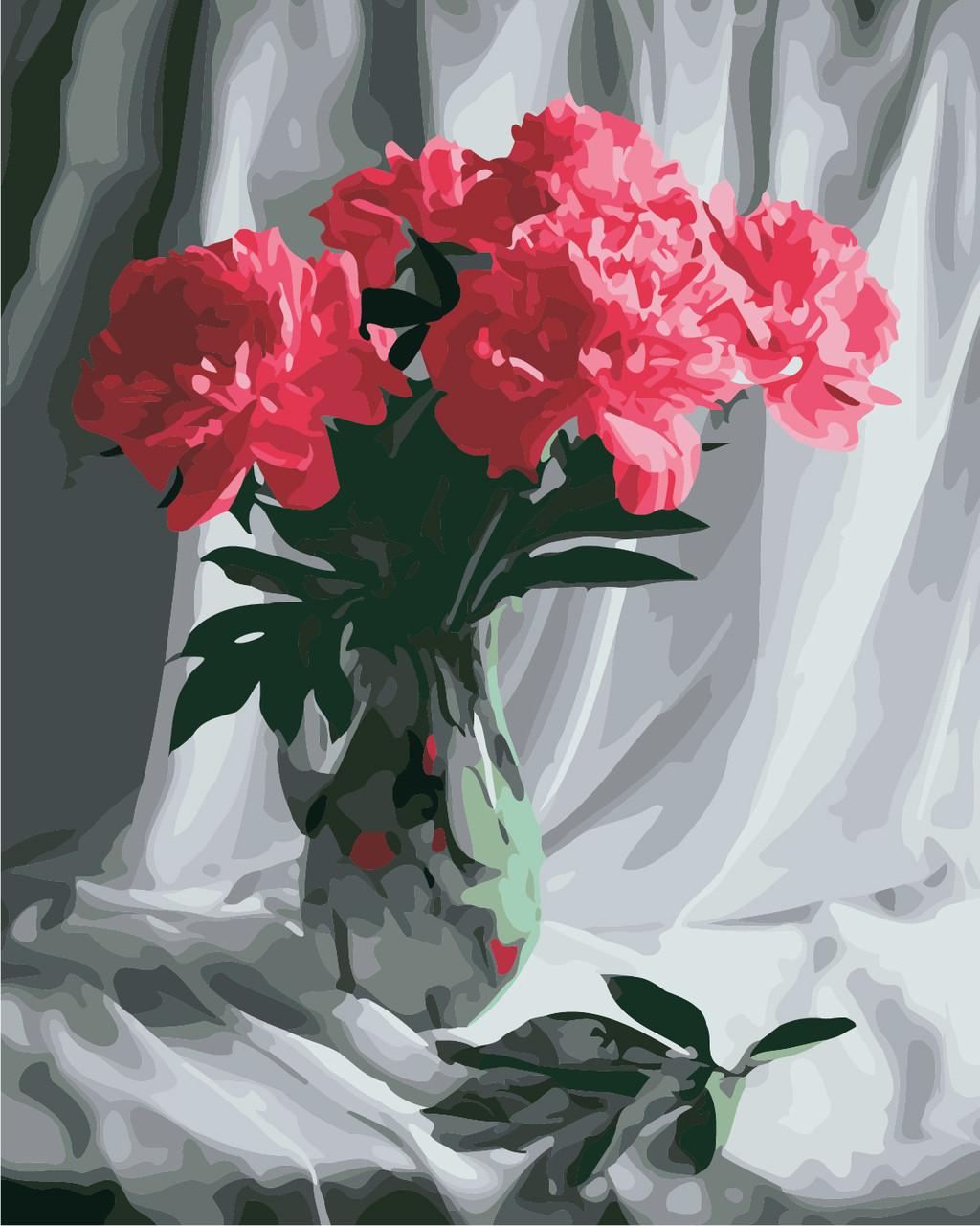 Художественный творческий набор, картина по номерам Бархатные пионы, 40x50 см, «Art Story» (AS0849)