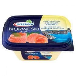 Крем-сыр плавленный с лососем и укропом Mlekpol Norweski, 150г