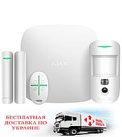 Комплект сигнализации Ajax StarterKit Cam Plus White