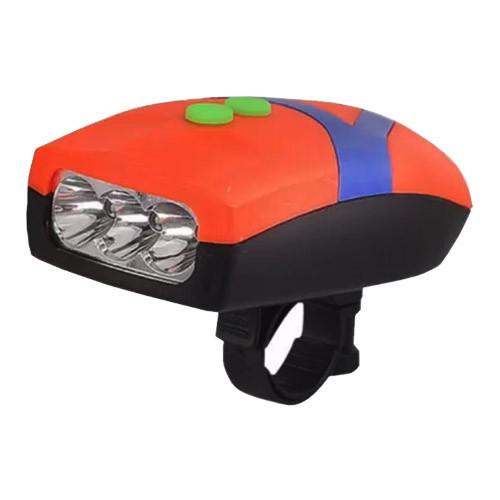 Велосипедный звонок + велофара FY-037-3LED, 3хААА, waterproof