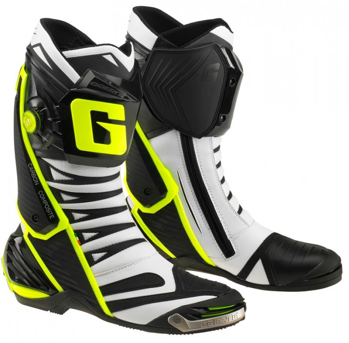 Мотоботинки Gaerne GP.1 EVO WHITE BLACK YELLOW 43