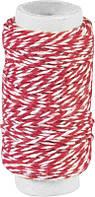 Декоративная нить, двойная, Красная, 20м, Knorr Prandell