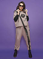 Серый демисезонный костюм брючный LibeAmore. Размер 54, 56