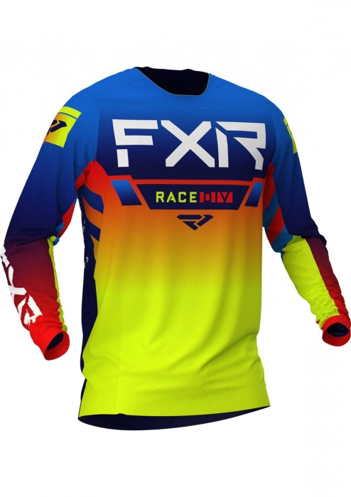 Мотоджерси FXR Yth Pro-Stretch MX 21-Blue/Hi Vis/Red-XL
