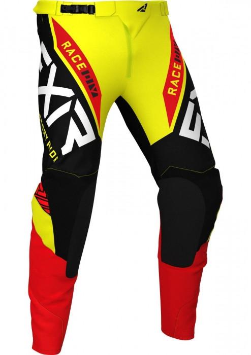 Мотоштаны FXR Yth Pro-Stretch MX 21-Yellow/Black/Red-24