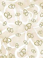 Велум полупрозрачный Heyda Сердца Золотой 21х29.7см 115г/м2 4005329078507