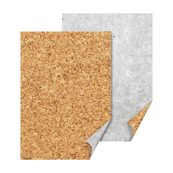Бумага с рисунком ''Пробковая'', А4(21х29,7см), двусторонняя, 300г/м2, Heyda