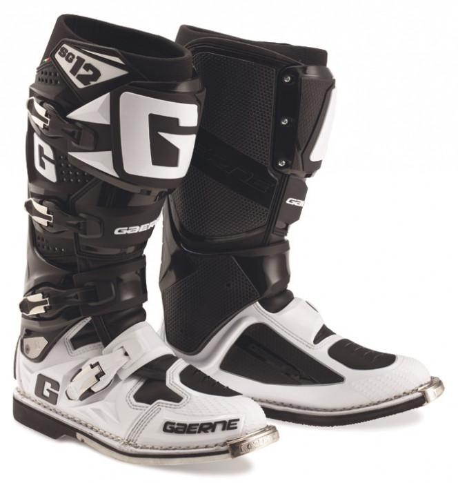 Мотоботинки Gaerne SG 12 WHITE-BLACK 47